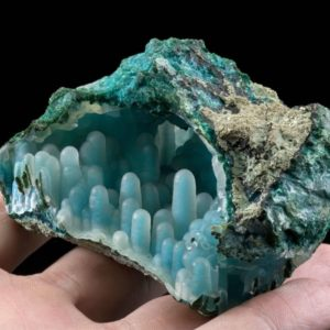 Chrysocolla in Malachite Rare Gemstones