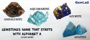 Gemstones Names - Starting With Alphabet A